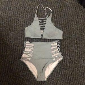 Teal PINK bikini set